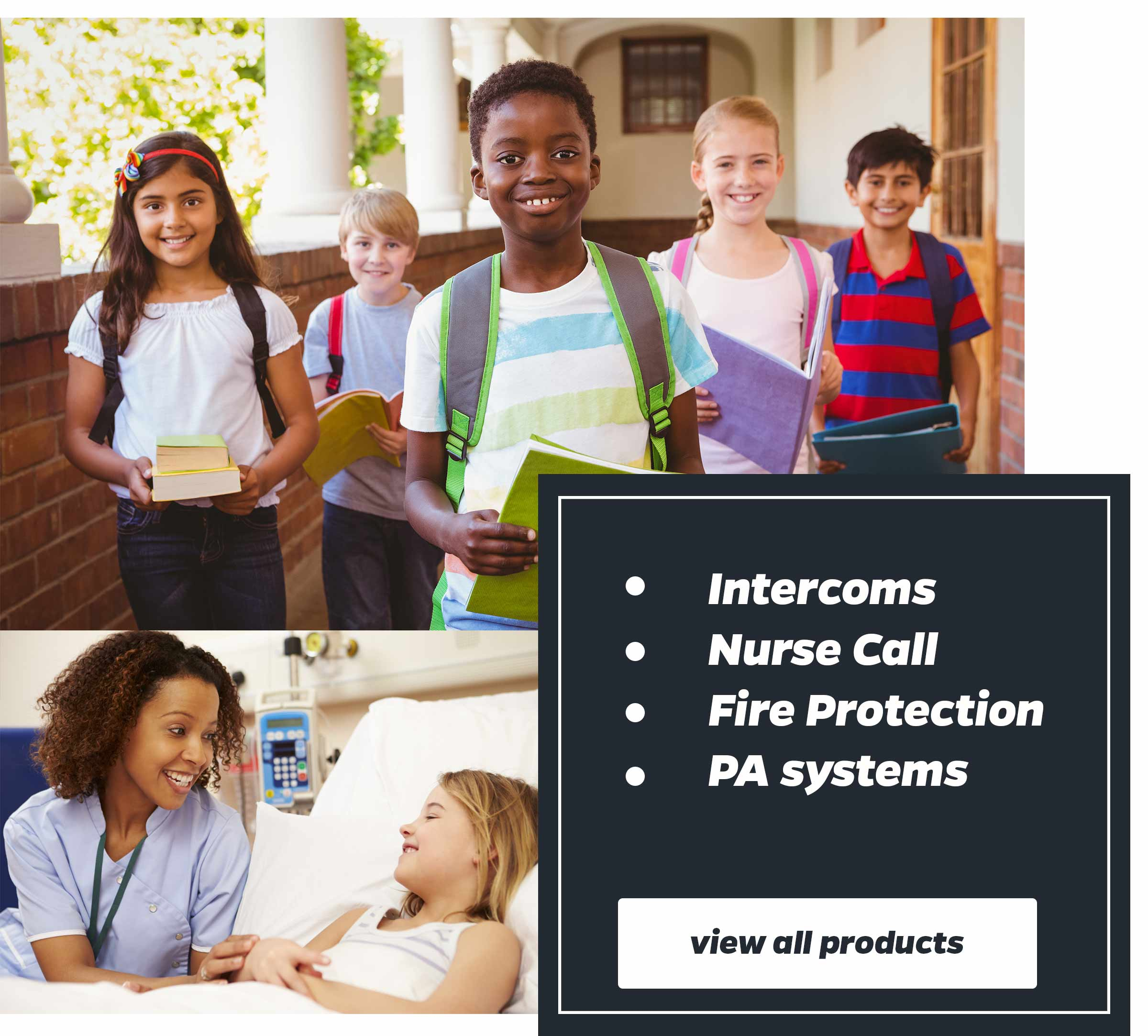 intercoms, nurse call, fire protection and PA systems south africa